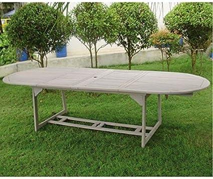 Tavoli Da Giardino In Legno Balau.Tavoli Da Giardino Tavolo Ovale Estensibile In Legno Balau