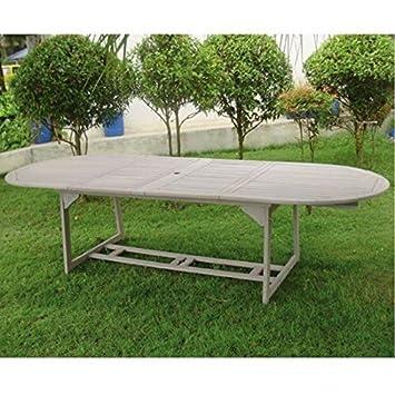 tavoli da giardino tavolo ovale estensibile in legno balau ... - Tavolo Da Giardino In Legno Balau