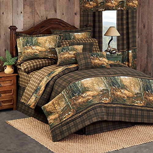 Blue Ridge Trading Whitetail Birch Queen Bed in a Bag 8 Piece Comforter Set ()
