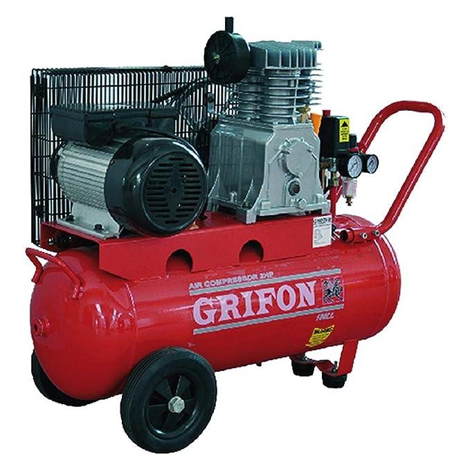 Compresor 100 l hp 2 grifos transmisión por correa: Amazon.es: Bricolaje y herramientas