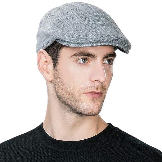 3ab0e4dc06a SIGGI Wool Newsboy Cap Mens Winter Hat Fitted Hunting Ivy Flat Cap British  Drivers Cap Gray