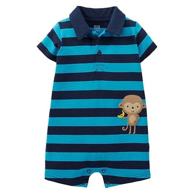 158edcf24efa Amazon.com  Carter s Just One You Baby Boys  Stripe Monkey Romper ...