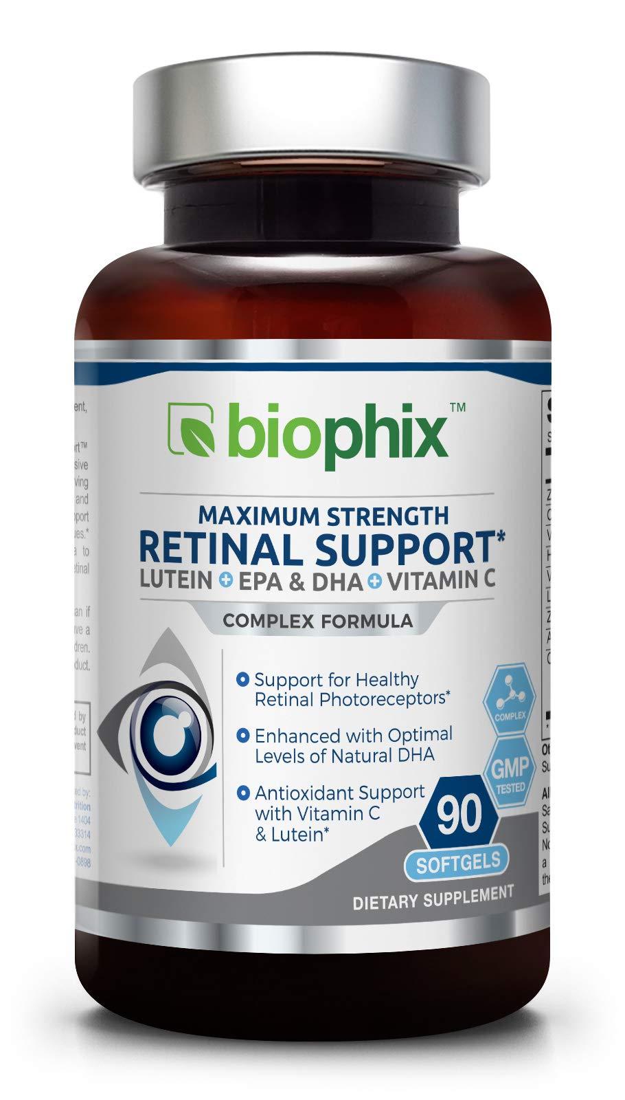 Retinal Support Maximum Strength Complex Formula 90 Softgels - Zinc | Vitamin C E | Omega-3 EPA DHA | Lutein | Astaxanthin | Hyaluronic Acid | Eye Healthy Vision Support