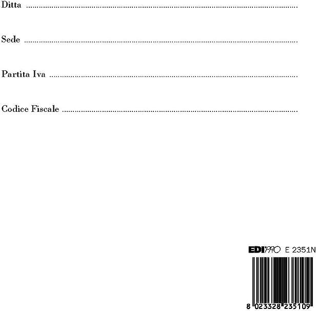 f.to 29,7x21 1-200 E2351N EDIPRO Fogli mobili per libri sociali rigati 100 fogli numerati
