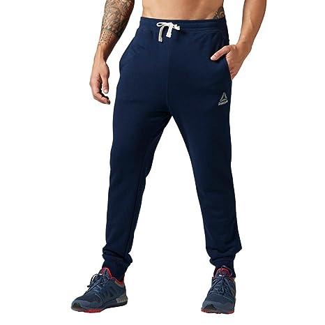 Reebok Men's Elements Ft Cuff Pants, Collegiate Navy, X-Small