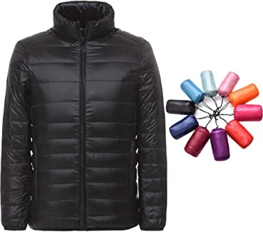X-Future Mens Warm Quilted Hooded Zipper Stand Collar Outdoor Long Down Jacket
