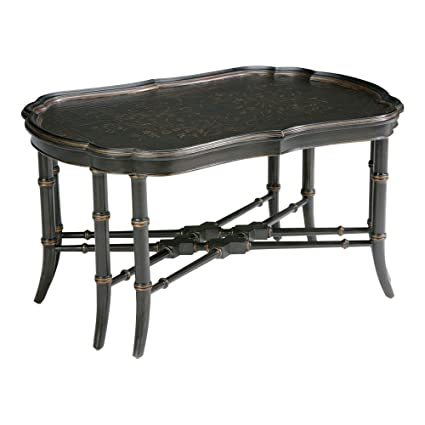 Attirant Ethan Allen Mirabelle Chinoiserie Coffee Table, Black Chinoiserie