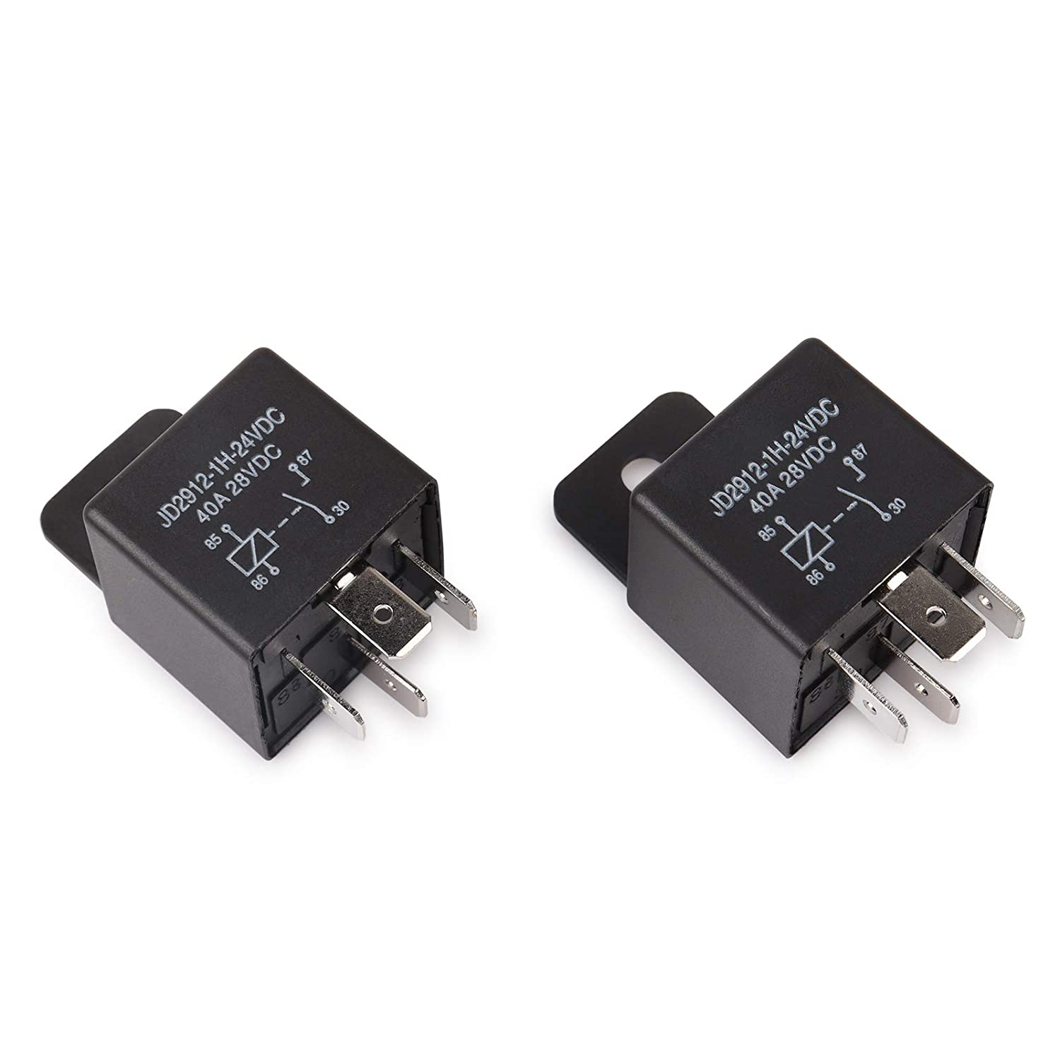Auto Switches /& Starters 5 Pack Ehdis/® Car Relay 4 Pin 12v 40amp Spst Model No. JD2912-1H-12VDC 40A 14VDC
