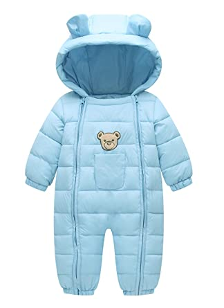 599a1542 Happy Cherry Baby Hoodie Jacket Infant Newborn Jumpsuit Snow Suit Winter Zip  up Long Sleeve One