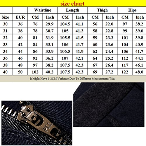 Zhhlaixing Moda Design Mens Suit Trousers Slim Fit Straight Long Pants Black