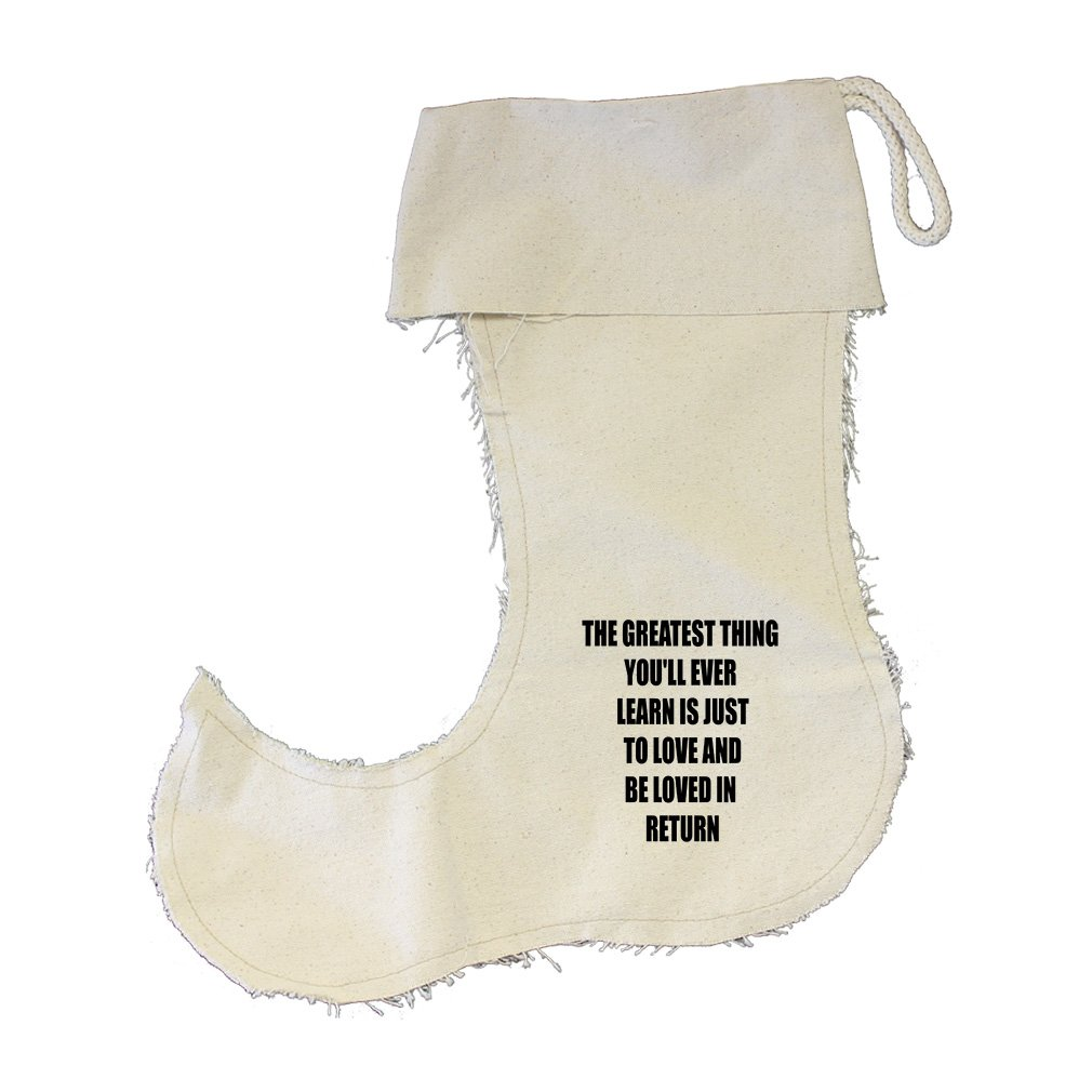 Thing To Love And Be Loved In Return Cotton Canvas Stocking Jester - Small