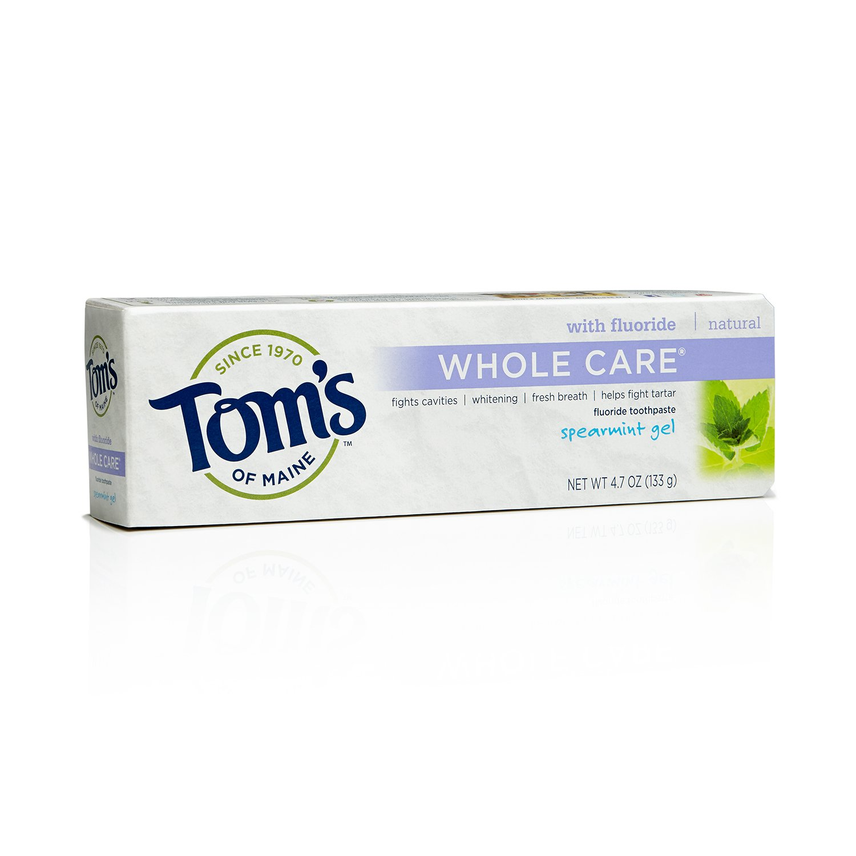 海外直送品 Tom's Of Maine Whole Care Toothpaste Spearmint, Spearmint 4.7 oz B004I797WS