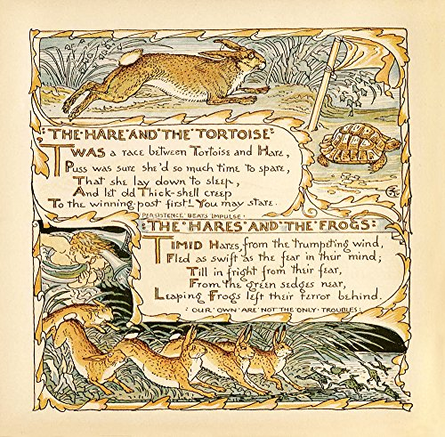 Print The Hare and the Tortoise Persistence Beats Impulse & The Hares and the