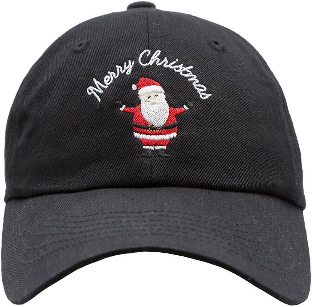 Amazon Com Nissi Merry Christmas Dad Hat Black Clothing