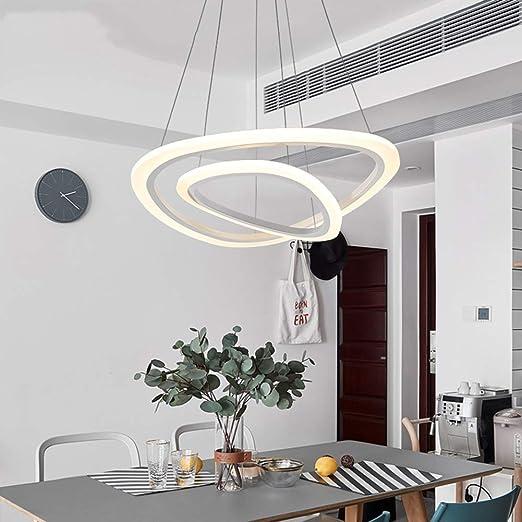 Lámpara colgante LED Lámpara de mesa de comedor moderna regulable ...