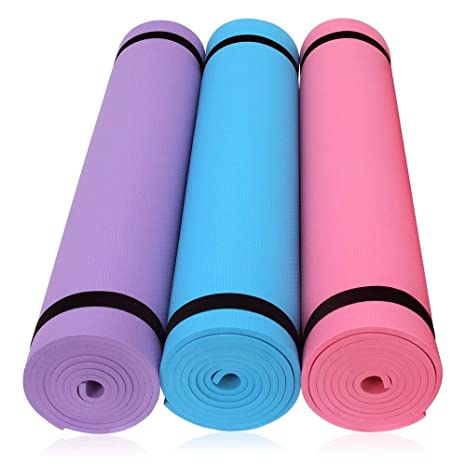 Amazon.com : HOME KITCHEN LLC - EVA Yoga Mat 6MM Thick Non ...