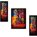 SAF 'Diwali UV Textured Ganesh' Modern Art Print Painting (Synthetic, 34 cm x 37 cm x 4 cm)