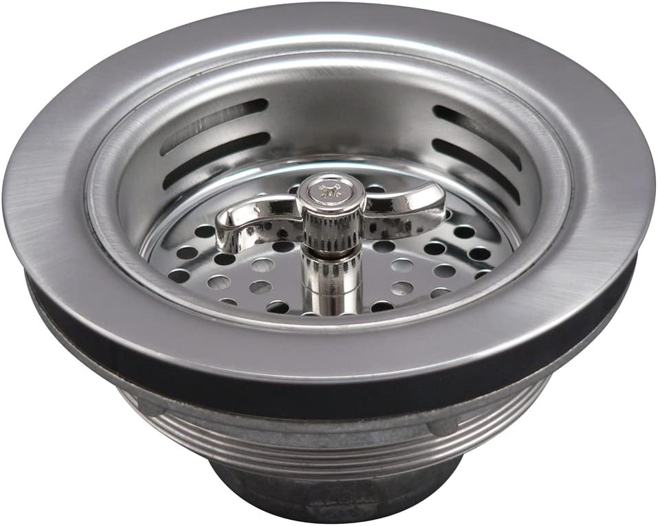 Keeney Manufacturing 1433SSBNS Sink Strainer with Turn 2 Seal Basket Nut, Brass
