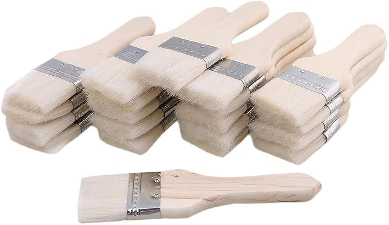 Bqlzr 4 6 Cm Blanc Bois Peinture à L Huile Brosses Brosse à