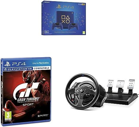 Playstation 4 (PS4) - Consola 500 Gb + 2 Mandos Dual Shock 4 Edición Dop + Gran Turismo Sport + Volante Thrustmaster T300RS GT Edition Force Feedback - 3 pedales - Licencia oficial GT Sport: Amazon.es: Videojuegos