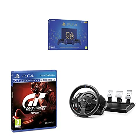 Playstation 4 (PS4) - Consola 500 Gb + 2 Mandos Dual Shock 4 Edición Dop + Gran Turismo Sport + Volante Thrustmaster T300RS GT Edition Force Feedback - 3 ...
