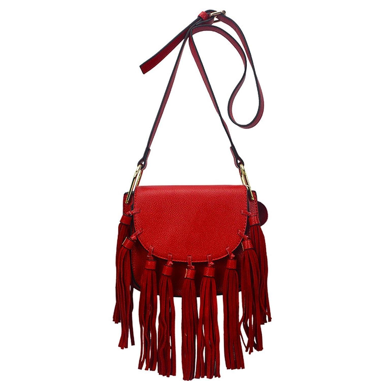 WorkTd Womens Vintage Fringes Crossbody Bag Shoulder Bag