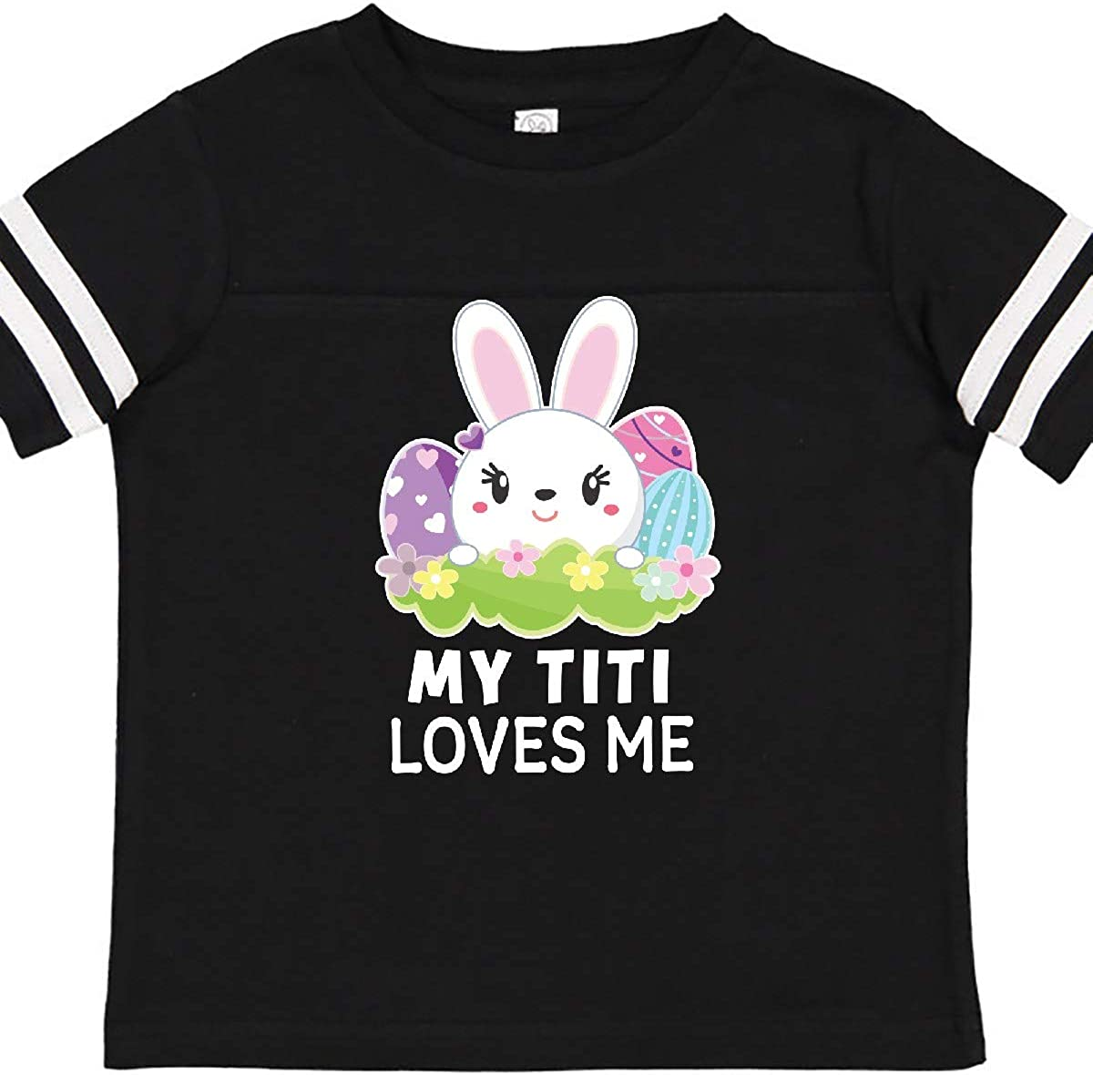 inktastic My Titi Loves Me with Bunny and Easter Eggs Toddler T-Shirt
