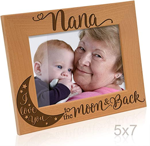 Kate Posh Gifts for Grandmother 4x6-Horizontal Mothers Day Gifts Engraved Natural Wood Photo Frame I love you Grandma Picture Frame Grandma gifts Grandma Picture Frame