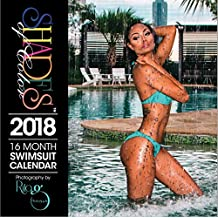 """Shades of Color 2018 16 Month African American Swimsuit Calendar by Rita G, 12"""" x 12"""" (18SOC)"""