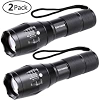 2-Pack Binwo 2000 Lumen XML T6 LED Tactical Flashlights