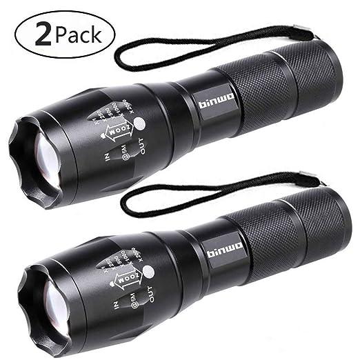 Review LED Tactical Flashlight, Binwo