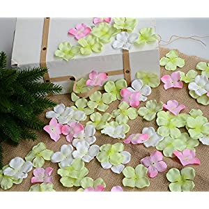 Hydrangea Petals Artificial Silk Pincushion Petal Flower Bridal Shower Favors for Wedding Party Supplies Table Floor Decoration Centerpieces Confetti (170, Tiffany Blue) 5