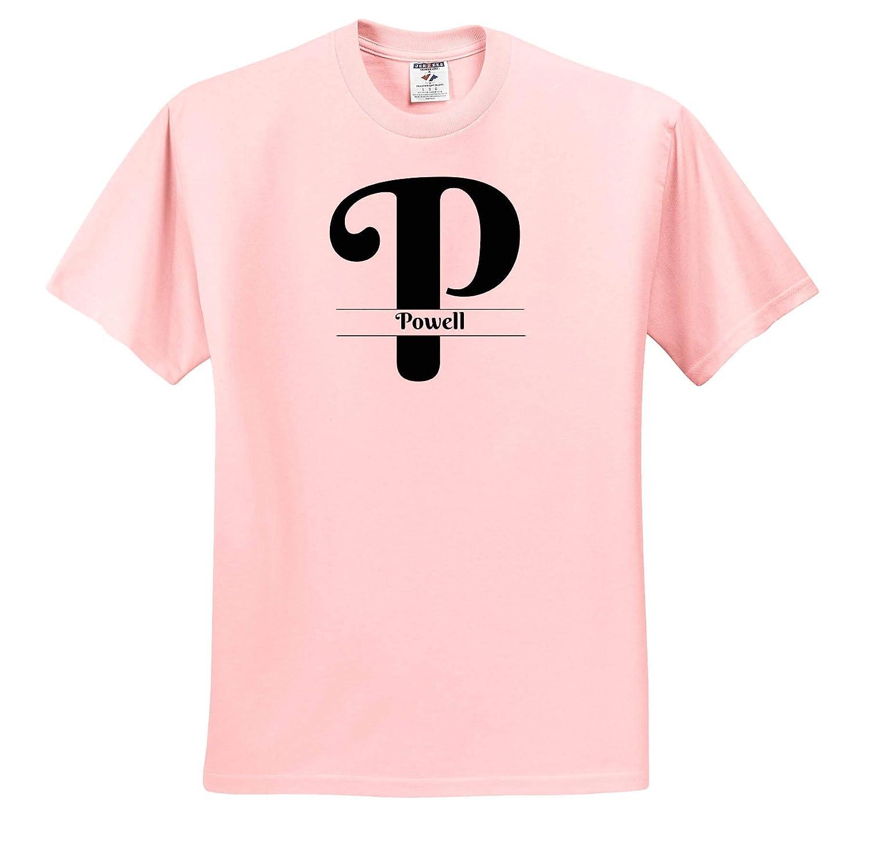 Powell T-Shirts 3dRose BrooklynMeme Monograms Bold Script Monogram P