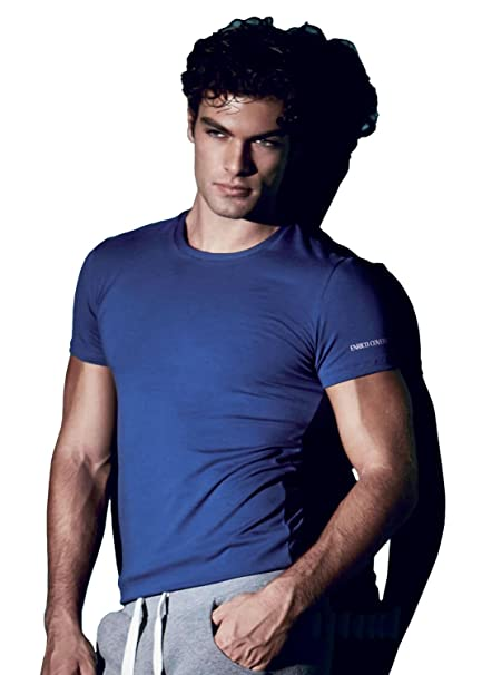 4ef861f25dc Enrico Coveri Men's Short Sleeve Crew or V-Neck Undershirt at Amazon ...