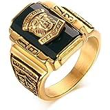 Vnox Acciaio inossidabile Uomo 1973 Walton High School Class Signet anelli a fascia Black Gold