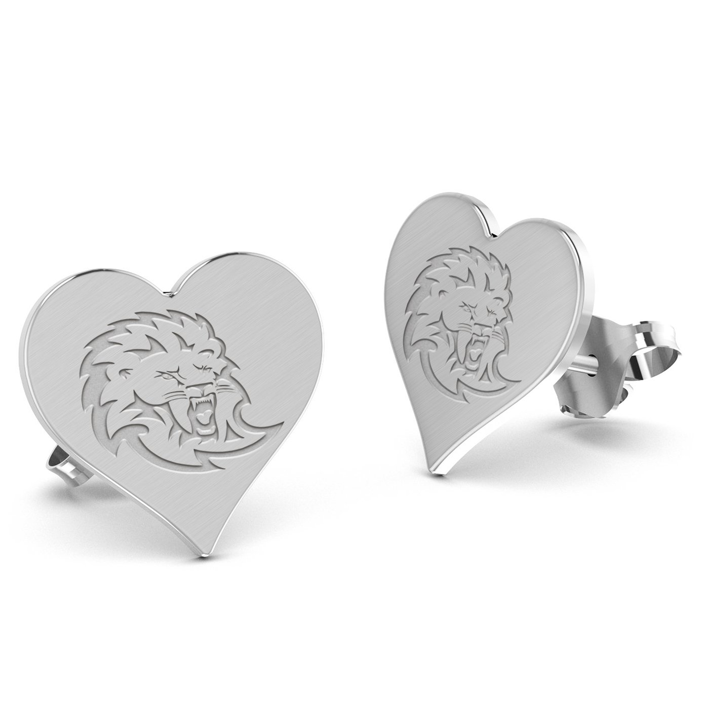 Southeastern Louisiana Lions Heart Stud Earring See Image on Model for Size Reference