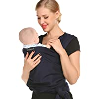 Ekouaer Baby Wraps Carrier Sling for Babies Up to 45lb (0-3 Years)