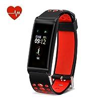 MixMart Pulsera Inteligente, Fitness Tracker Personalizado Monitor de Ritmo cardíaco, 14 Modos Deportivos Smart Watch IP68 Podómetro Impermeable de Bluetooth Hombres, Mujeres niños