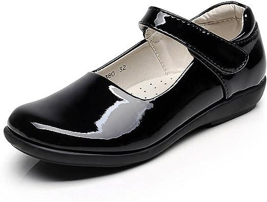 Amazon.com   rismart Children's Girls' Hook&Loop Smart Patent Leather  Oxfords Shoes   Flats