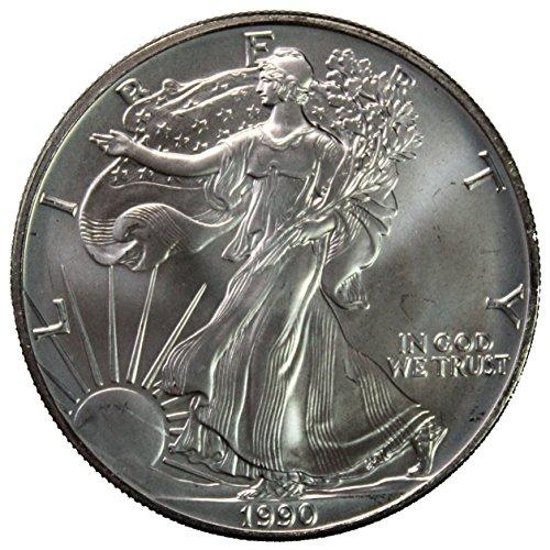 1990 American Silver Eagle $1 Brilliant Uncirculated