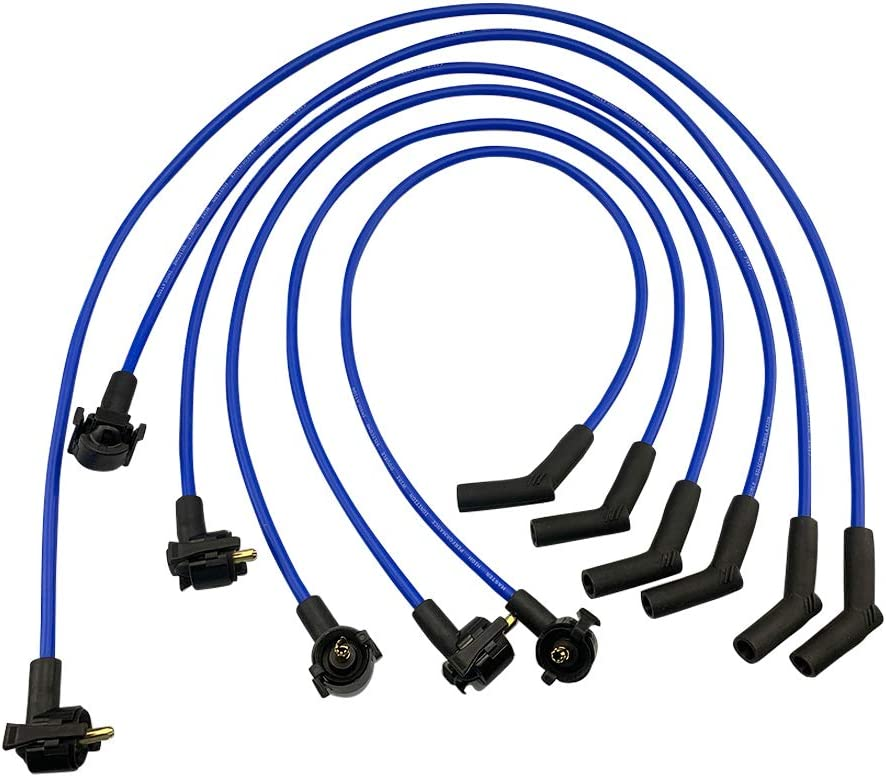 Cable Master Spark Plug Wires Compatible with Ford E-150//250 Econoline Club Wagon F-150 4.2L V6 1997-2000