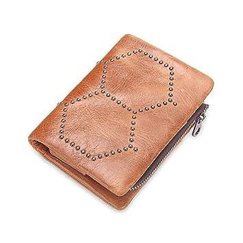ANLEI Carteras Hombre M1207 Material Suave PU Retro Clásico Desmontable Billetera Cero Paquete De Tarjetas 12.5 * 9 * 2cm: Amazon.es: Hogar
