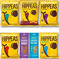Vegan Happy and Healthy Snacks Variety Pack Sampler, Different Flavor Chickpeas, Include Hippeas and Biena Chickpea Snacks (14 Count)