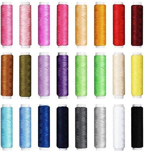 Coddington 90PCS Tutto in un Unico Kit di un Kit de cucito di viaggio provvisorio Accessori discussione e Borsa di stoccaggio Colore Casuale