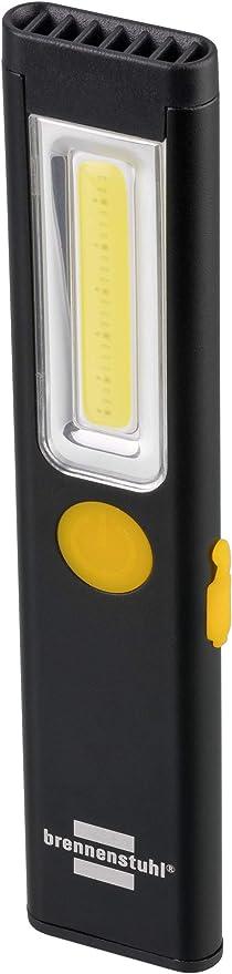 Brennenstuhl 1175590 Akku Handleuchte Pl 200 A Taschenlampe Led 200lm Inklusive Usb Ladekabel Bis Zu 12h Leuchtdauer Inspektionsleuchte Cob Mit Magnet Und Clip Schwarz Baumarkt