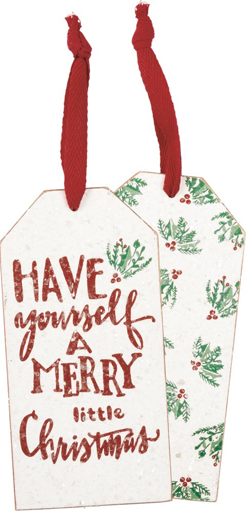 Bottle Tag - Merry Little, Set of 3