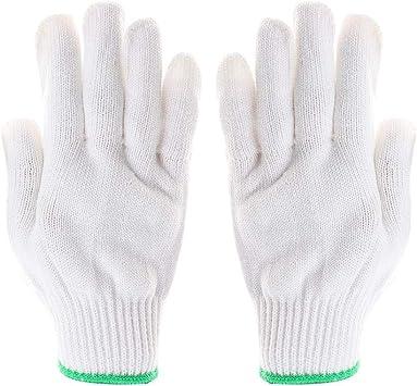 Hillrong Guantes de Trabajo de algodón Blanco para jardinería ...