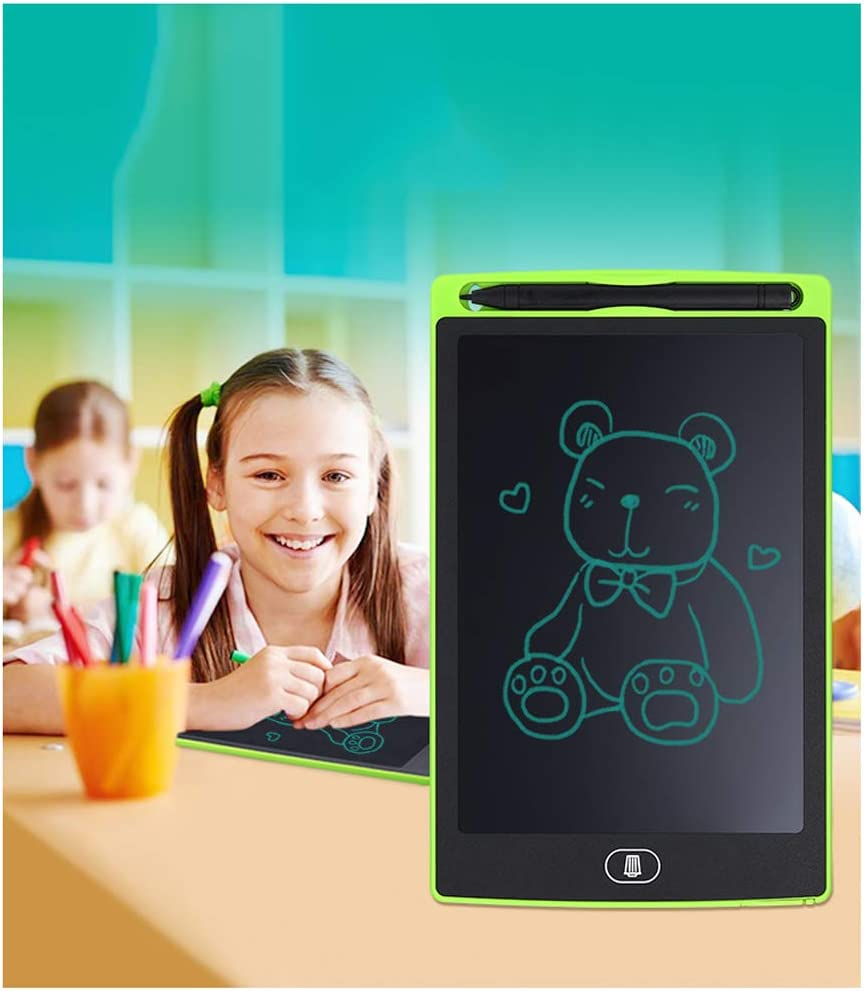 8.5-inch Abs Electronic Colorful Screen Drawing Tablet with Lock Function Thick Lines Notepad for Kids Home-red JRMU LCD Portable Reusable Graphic Writing Tablet
