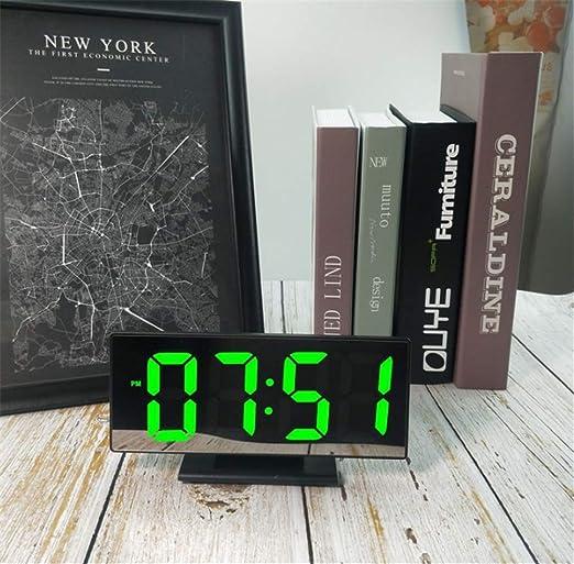 XZYP Radio Despertador Proyector, Creativo Reloj De Espejo ...