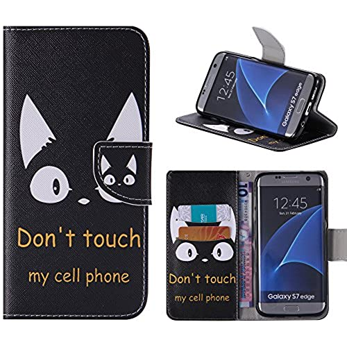 S7 Edge Case, Galaxy S7 Edge Case, Harryshell(TM) Cut Cat Wallet Folio Leather Flip Case Cover with Card Holder for Samsung Galaxy S7 Edge Sales